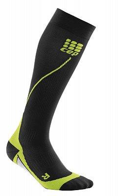 Ponožky CEP Běžecké podkolenky pánské černá / zelená