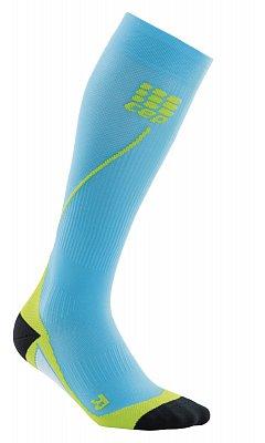 Ponožky CEP Běžecké podkolenky pánské havajská modř / zelená