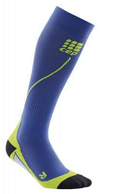 Ponožky CEP Běžecké podkolenky pánské purpurově modrá / zelená