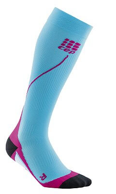 Ponožky CEP Běžecké podkolenky dámské havajská modř / růžová