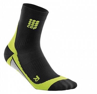 Ponožky CEP Krátké ponožky pánské černá / zelená