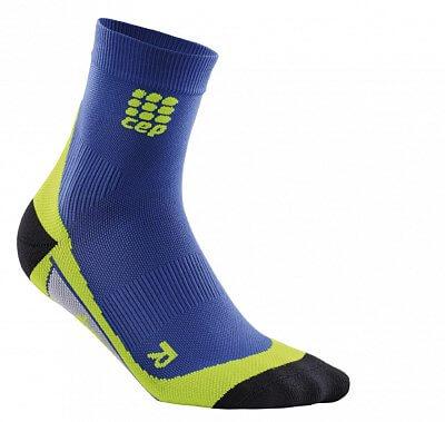 Ponožky CEP Krátké ponožky pánské purpurově modrá / zelená
