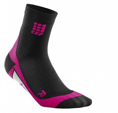 Ponožky CEP Krátké ponožky dámské černá / růžová