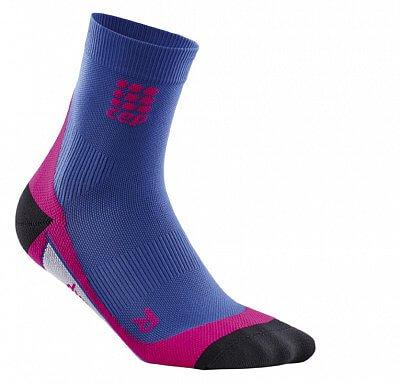 Ponožky CEP Krátké ponožky dámské purpurově modrá / růžová