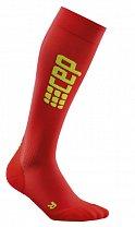 CEP Běžecké podkolenky ultralight dámské červená / zelená