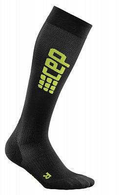 Ponožky CEP Běžecké podkolenky ultralight pánské černá / zelená