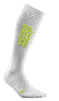 Ponožky CEP Běžecké podkolenky ultralight pánské bílá / zelená