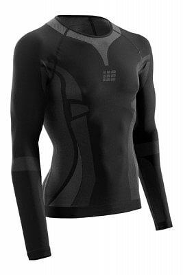 Trička CEP Ultralight tričko s dlouhým rukávem pánské černá