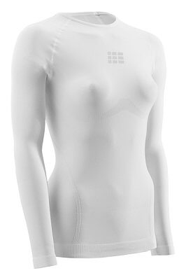 Trička CEP Ultralight tričko s dlouhým rukávem dámské bílá