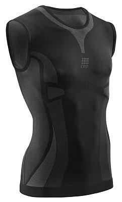 Trička CEP Ultralight tričko bez rukávu pánské černá