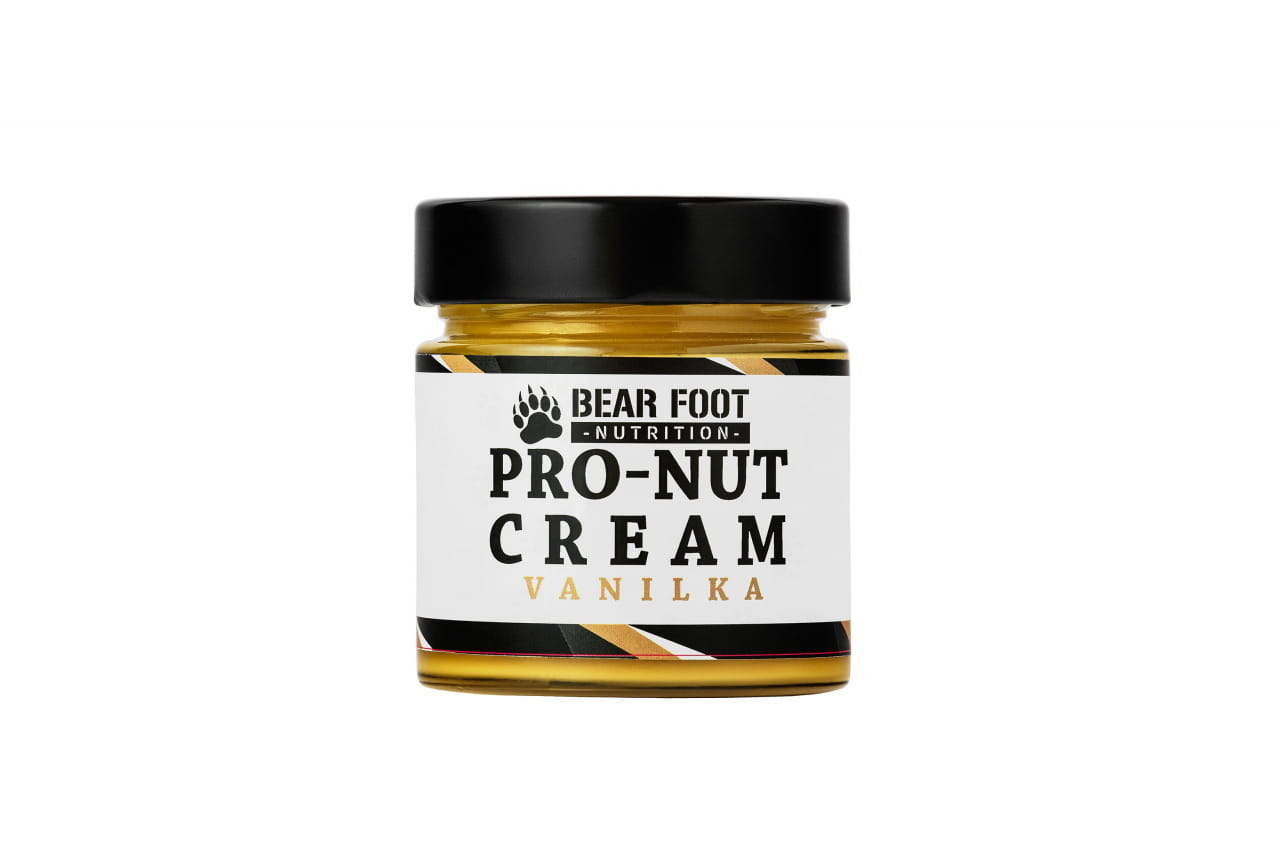 Zdravé potraviny Bear Foot Pro-Nut Cream, vanilka, 250g