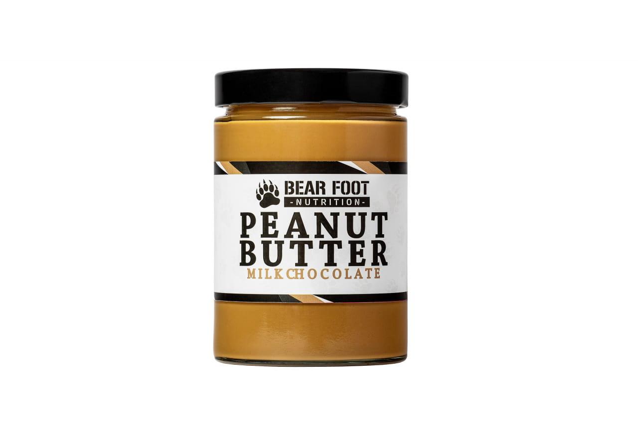 Zdravé potraviny Bear Foot Peanut Butter, Milk Chocolate, 550g