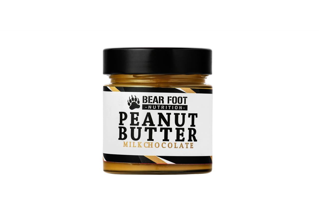 Zdravé potraviny Bear Foot Peanut Butter, Milk Chocolate, 250g