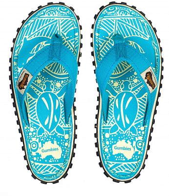 Letní obuv do města i do přírody Gumbies Turquoise