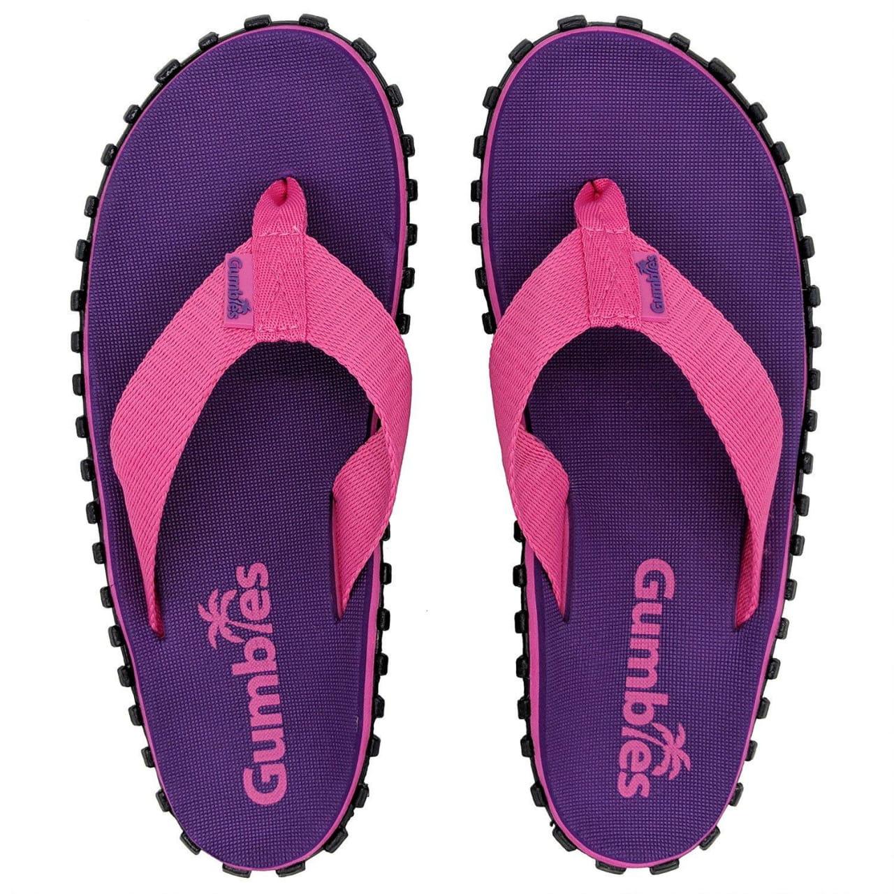 Plážové žabky přizpůsobené k vodě Gumbies Duckbill Purple