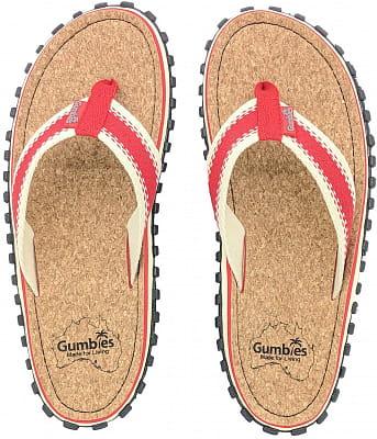 Korkové letní žabky Gumbies Corker Red
