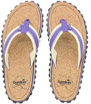 Korkové letní žabky Gumbies Corker Purple