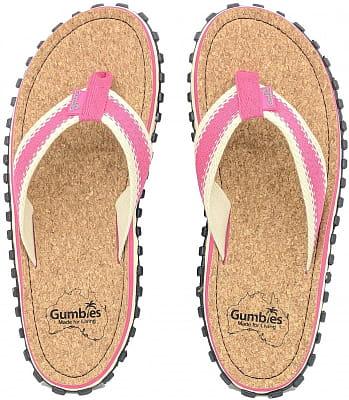 Korkové letní žabky Gumbies Corker Pink