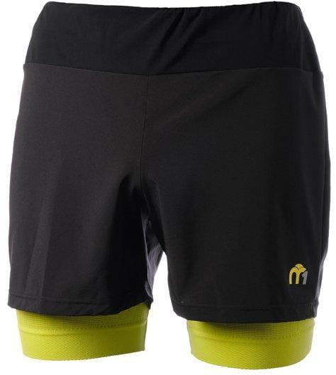 Pánské sportovní kraťasy Mico Man Shorts With Brief Insert M1 Trail