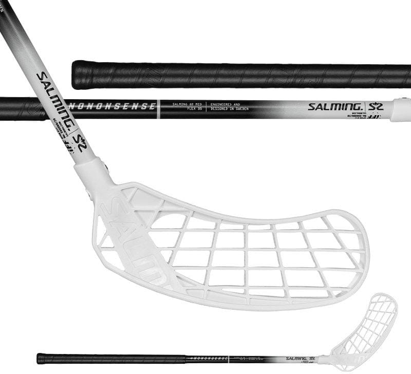 Florbalová hokejka Salming Q2 Mid Black/White