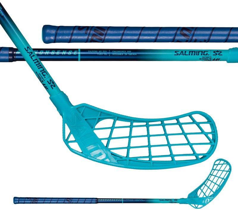 Florbalová hokejka Salming Q2 Mid Blue/Cyan Blue