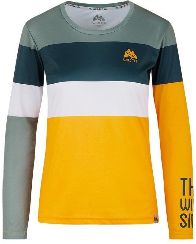 Tričká WildTee Běžecké Triko Colorblok Yellow W