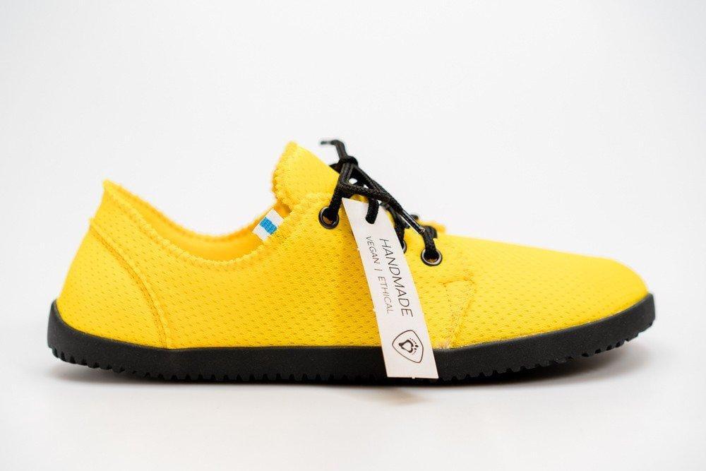 Barefoot obuv navržená fyzioterapeuty Ahinsa Shoes Bindu 2 Bare Žlutá AirNet