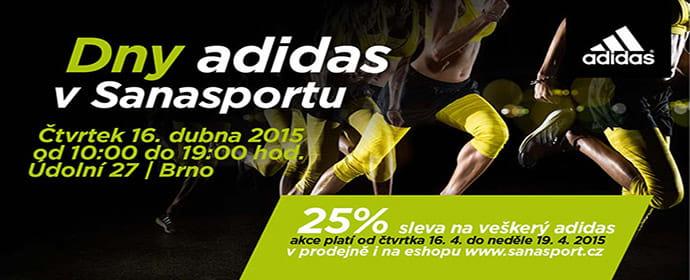 Dny adidas + ve čtvrtek 16.4. s dynamickou diagnostikou zdarma