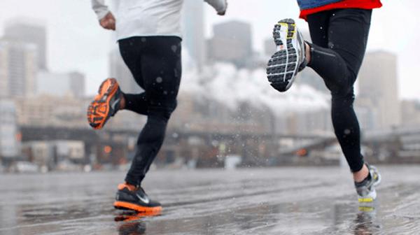 Běh v dešti, zimě a větru