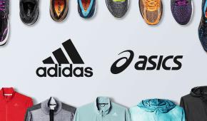 Vybavenie Asics a adidas za babku