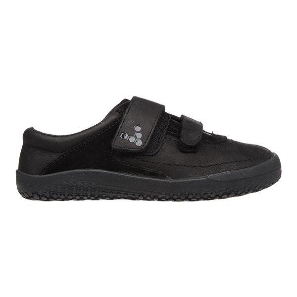 1d0420cbecfa Vivobarefoot Reno K Leather Black - barefoot topánky