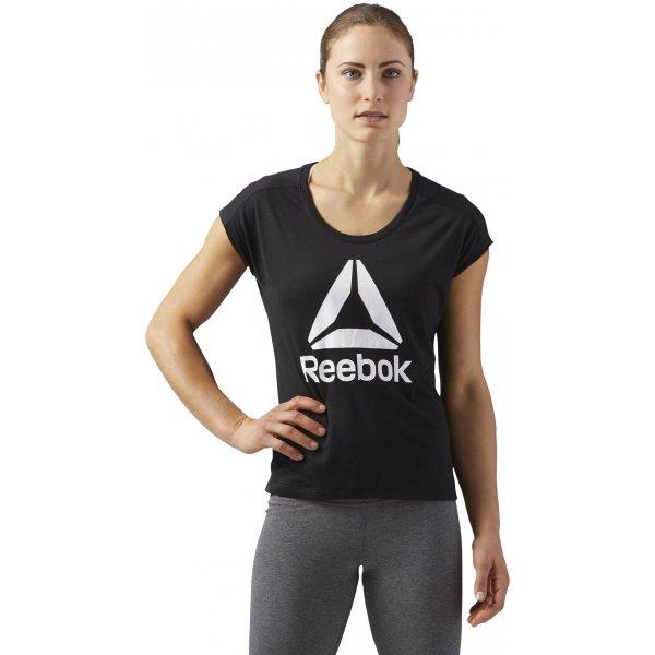 Reebok Workout Ready Supremium 2.0 Tee Big Logo - dámské tričko ... b10089abf9