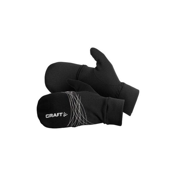 9256d292e54 Craft Rukavice Running HYBRID prstové rukavice s překrytím černá - pánské  rukavice